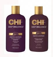 CHI Deep Brilliance Olive & Monoi Набор (Shampoo 355 мл+Conditioner 355 мл)
