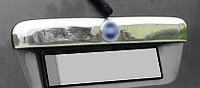 Fiat Doblo II 2005↗ гг. Накладка над номером (нерж.) OmsaLine - Итальянская нержавейка