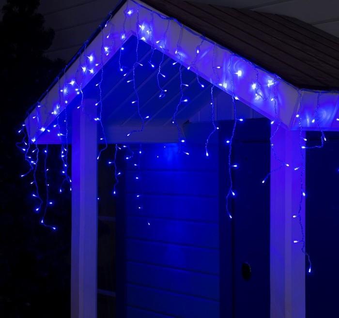 Электрическая гирлянда Бахрома 120 LED 3 м * 0.5 м, синяя