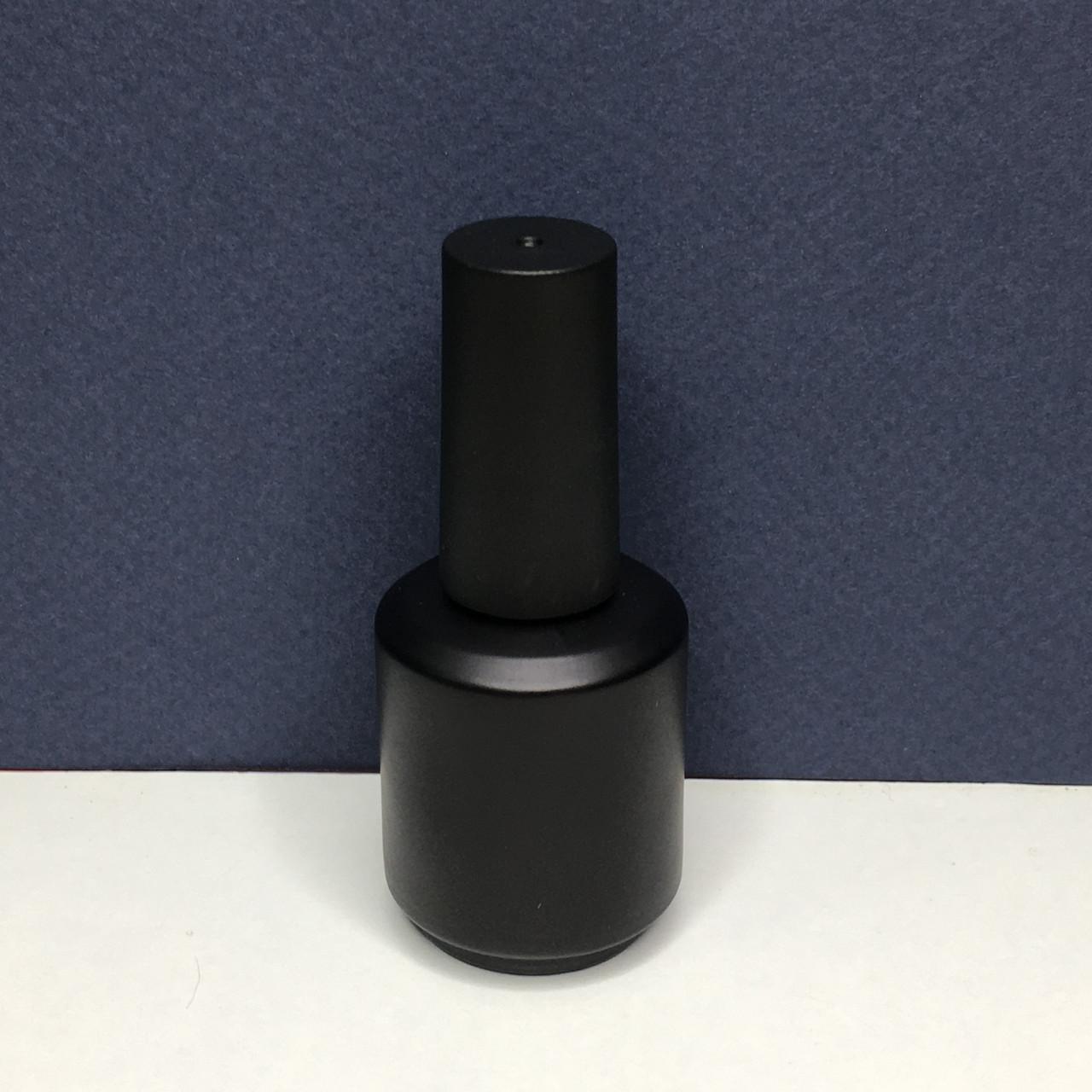 Флакон с кисточкой черный (бутылочка стекло) 15 мл.