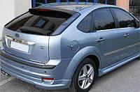 Ford Focus II 2005-2008 гг. Кромка багажника (HB, нерж.)