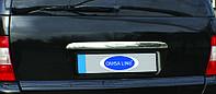 Mercedes ML W163 Накладка над номером (нерж) OmsaLine - Итальянская нержавейка