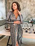 Вечернее платье миди из пайетки на запах (р. 42-46) 22031806, фото 5