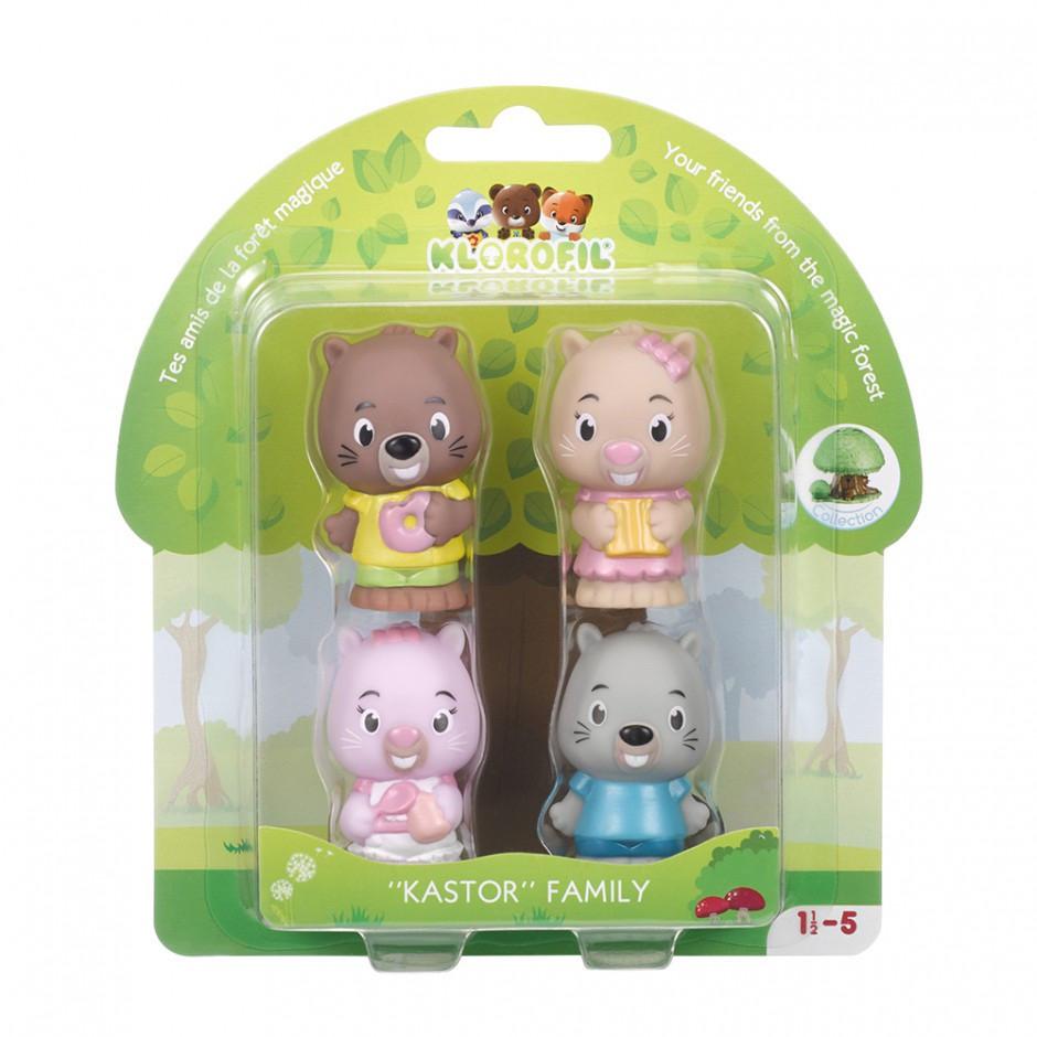 Набор игрушек для детей семья бобров Klorofil