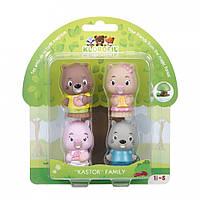 Набор игрушек для детей семья бобров Klorofil, фото 1