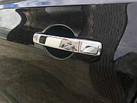 Nissan Qashqai 2007-2010 гг. Накладки на ручки (4 шт, нерж) Без чипа, OmsaLine - Итальянская нержавейка