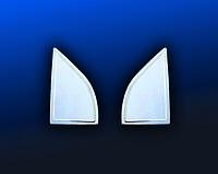 Nissan Navara 2006-2015 гг. Накладка на ветровички (2 шт, нерж.)