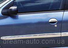 Peugeot 206 Молдинг дверний (4 шт, нерж)
