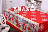 Скатертина Новорічна 120-150 «Сніжинки», фото 3