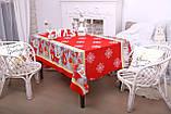 Скатерть Новогодняя 120-150 «Снежинки», фото 4