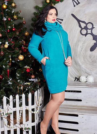 Теплое платье туника большой размер, фото 2