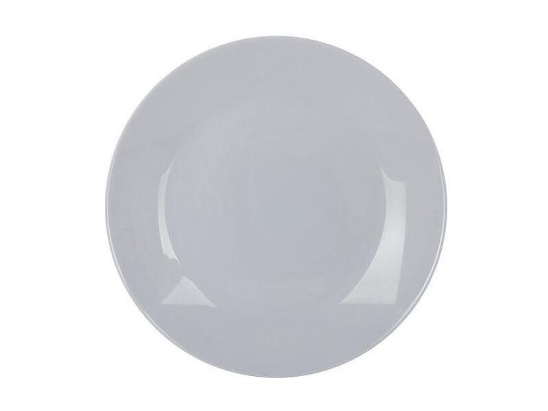 Большая светлосерая тарелка Luminarc Zelie Granit 25см