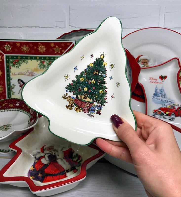 Блюдо елка Christmas Tree 17см