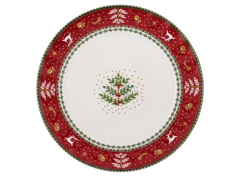 Тарелка с оленями Лефард Рождественская коллекция 27см