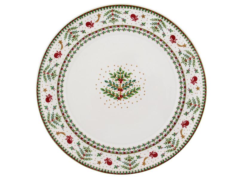 Тарілка з оленями новорічна колекція Лефард 18см