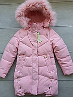 Куртка зимняя на девочку 134-158 в розницу, фото 1