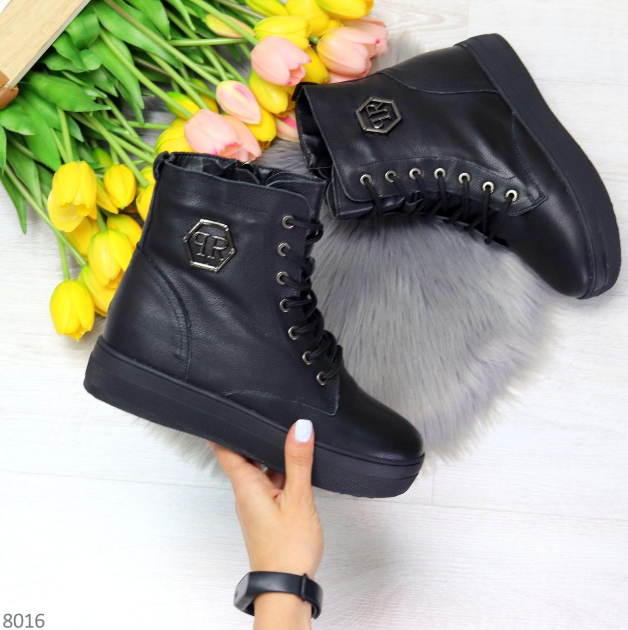 Молодежные черные полу спортивные женские ботинки натуральная кожа