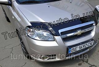 Реснички на фары Chevrolet Aveo T250 2005-2012 (ANV)