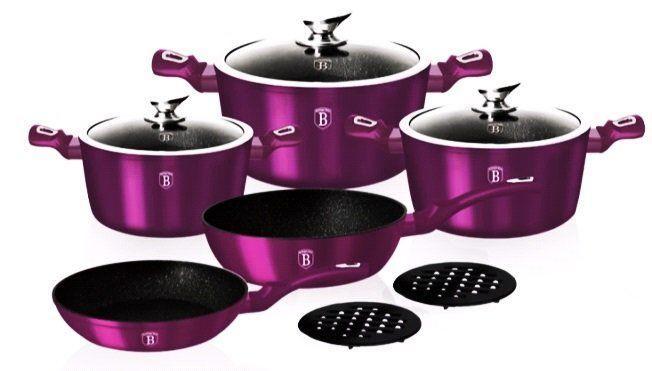 Набір антипригарній посуду Berlinger Haus Purple 10пр