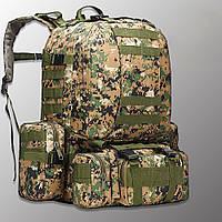 """Тактический рюкзак с подсумками """"Mountain - 50 pack"""" (marpat) на 50 литров, армейский, военный, edc"""