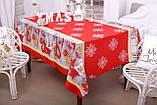 Скатертина Новорічна 150-220 «Сніжинки», фото 2