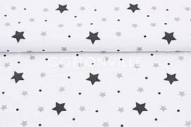 Муслин Звездочки разного размера 160 см