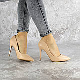 Туфли женские на каблуке Fashion Fleetwood 2367 36 размер 23,5 см Бежевый, фото 3