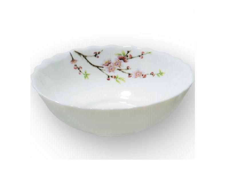 Глубокая стеклокерамическая тарелка Maestro Сакура 200мм