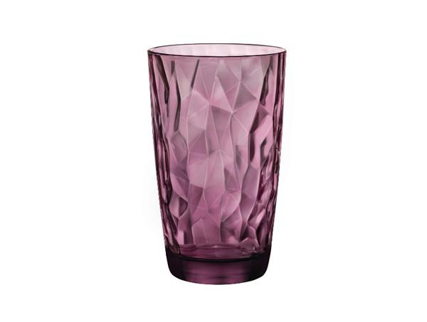 Высокие розовые стаканы Bormioli Diamond Rock Purple 470мл 6шт