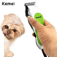 Машинка для стрижки животных KEMEI KM-736 проводная, инструменты для груминга