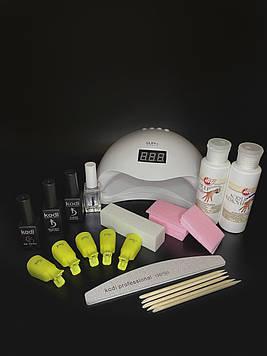 Стартовый набор гель-лаков Kodi с UV/LED лампой  SUN 5 на 48 ВТ
