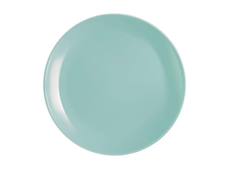 Столовая посуда бирюзовая тарелка обелденная Luminarc Diwali Light Turquoise 25см P2611