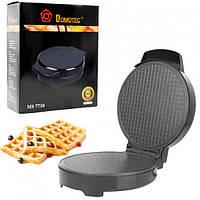 Вафельница электрическая DOMOTEC MS 7710 для приготовления тонких вафель 1000Вт Черная