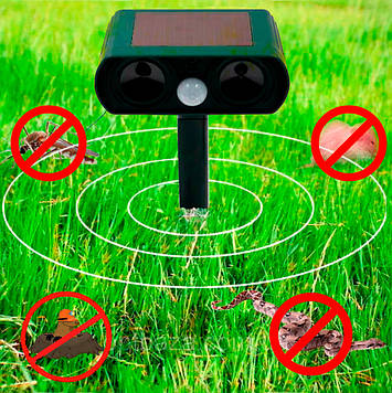 Ультразвуковий відлякувач для кротів і гризунів Solar Pest Reppeler Кріт HC-9 (прямокутна голова) (SV)