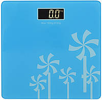 Весы напольные стеклянные (квадратные) на 180 кг Domotec MS-1604 Blue (3272)