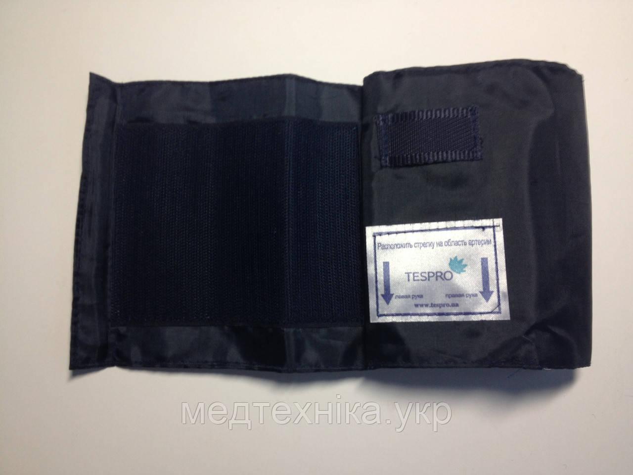 Манжет для плеча нейлоновый 51*14 см. с кольцом без камеры, обхват 24-38 см, цвет синий