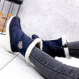 Сапоги дутики женские Снежинка синие 2509, фото 2