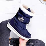 Сапоги дутики женские Снежинка синие 2509, фото 8