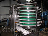 Конвейер на модульных лентах, спиральный конвейер