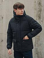 Зимняя куртка с капюшоном мужская Staff basic2 black, фото 1
