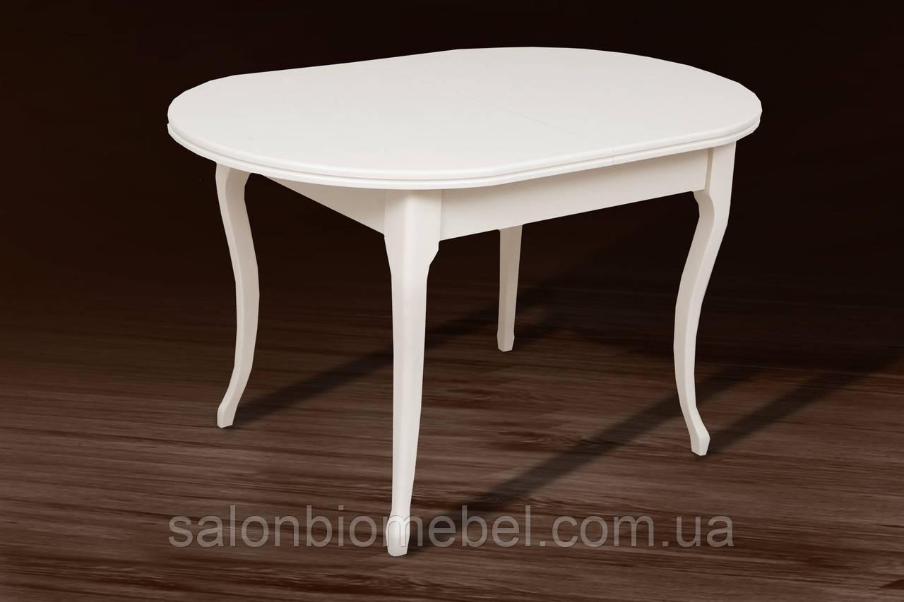 Стол деревянный раскладной Твист белый