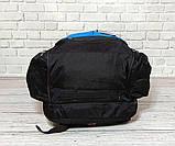 Вместительный рюкзак. Черный с синим. + Дождевик. 35L / s1531 blue, фото 6