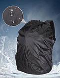 Вместительный рюкзак. Черный с синим. + Дождевик. 35L / s1531 blue, фото 9