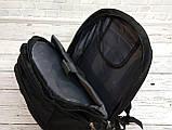 Вместительный ортопедический рюкзак. Черный. 35L / s6612 black, фото 5