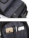 Вместительный ортопедический рюкзак. Черный. 35L / s6612 black, фото 10