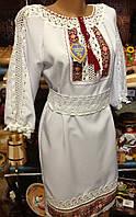 Сукня жіноча ручної роботи вишита хрестиком 42 розмір