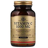Витамин С, Vitamin C, Solgar, 1000 мг, 90 таблеток
