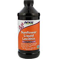 Подсолнечный Лецитин, Sunflower Liquid Lecithin, Now Foods, 473 мл.