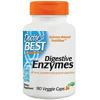 Пищеварительные ферменты, Digestive Enzymes, Doctor's Best, 90 капсул