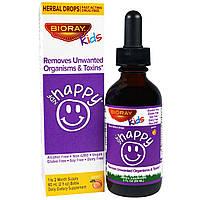 Детский комплекс против паразитов и токсинов, Bioray, NDF Happy, Вкус Персика, 60 мл
